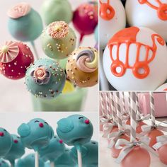 Cake Pops for Baby Showers