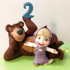 Resultado de imagem para masha and the bear birthday Twin Birthday Cakes, Bear Birthday, Birthday Diy, Birthday Ideas, Character Cakes, Kid Character, Masha Cake, Marsha And The Bear, Foundant