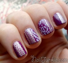 Nail Junkie: Pamplona Purple + Konad and Other AWESOME Nail Inspirations