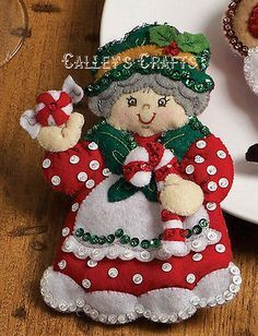 christmas felt mrs. claus ornament - Google Search