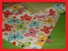 Krabbeldecke, Schmusedecke, Schmetterling   Decke von Nadel & Faden  auf DaWanda.com