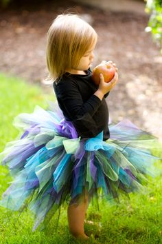 Fancy Bustle Peacock TUTU and Matching by littledreamersinc, $30.00