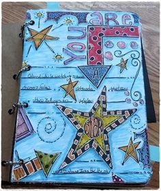 A fun smash book/art journal page
