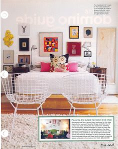These wire chairs need to be located. Sprayed canary yellow and placed near the daybed in the kitchen.