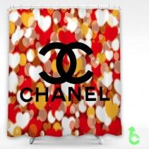 Chanel heart bokeh Shower Curtain