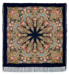 "Russian Pavlovsky Posad shawl ""Crimea"" ""Крым"""