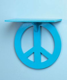 Peace Sign Wall Shelf Kids or Teens Room or Dorm [SM203098-9SF6-BLU] - $18.95 : SmartSaver LLC