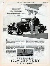 1929 Hupmobile Century  Six & Eight Car Ad --x791