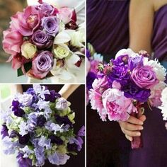 Purple and pink beach wedding bouquets - The Wedding SpecialistsThe Wedding Specialists