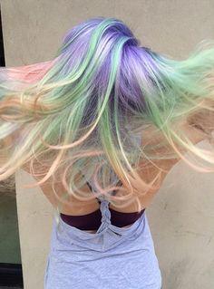 #Opalhair  Get more opal hair inspiration & colour tips here: https://www.rainbowhaircolour.com/opal-hair-latest-pastel-rainbow-hair-trend/