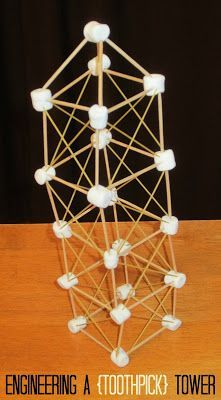 Relentlessly Fun, Deceptively Educational: Shapes, Letters, & Towers: Building with Marshmall. School Age Activities, Steam Activities, Team Building Activities, Activities For Kids, Indoor Activities, Science Activities, Spaghetti Tower, Spaghetti Noodles, Stem Projects