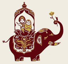 #illustration #elephant#cute
