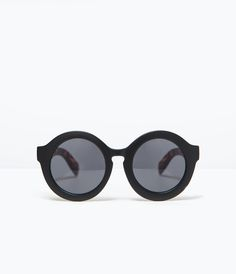 ZARA - WOMAN - ROUND SUNGLASSES FAUX TORTOISESHELL ARMS