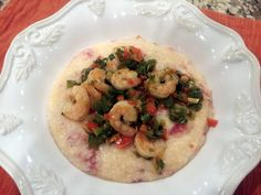 """Crockpot Shrimp and Grits! 4.00 stars, 4 reviews. """"Husband LOVED it. Missing something though....crumbled bacon on top next time."""" @allthecooks #recipe"""