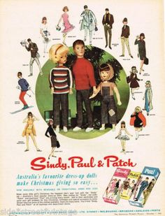 SINDY DOLL AD SINDY PAUL & PATCH TOYS Vintage Advertising 1966 Original Ad   eBay