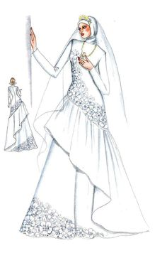Sketch of Modern Kebaya