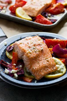 Easy One Pan Greek Salmon - Cooking for Keeps
