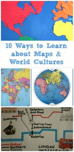 Wonderful hands-on activities that teach kids how to use maps and learn about world cultures!