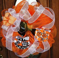 TN Vols Wreath $65. I WILL MAKE THIS.!!!