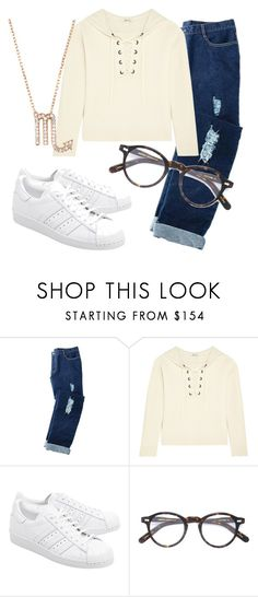 """Another Day At School"" by dreamgirl-01 ❤ liked on Polyvore featuring Avon, Madewell, adidas Originals, Moscot and Latelita"