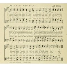 Good King Wenceslas Neale Christmas in Song 1891 Canvas Art - (18 x 24)