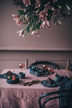 Fairytale in rosé at our friend Signe Bay's Studio in Copenhagen - Our Food Stories Interior Design Kitchen, Interior And Exterior, Pastel Home Decor, Pastel House, Purple Walls, Deco Table, Room Paint, Home Decor Furniture, Colour Schemes