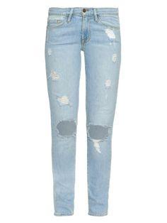 FRAME DENIM Le Skinny De Jeanne Mid-Rise Jeans. #framedenim #cloth #jeans