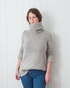 Marled Grey wool sweater Ribbed Turtleneck, Wool Sweaters, Turtle Neck, Grey, Shopping, Fashion, Tricot, Gray, Moda