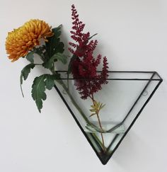 Ada Triangle Glass Wall Mount by MontibyMonti on Etsy