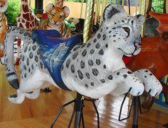 Snow Leopard Carousel Animal at the Akron Zoo by Paula~Koala, via Flickr