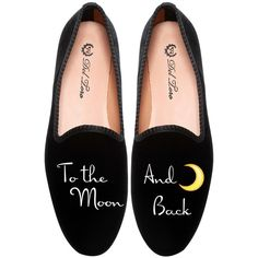 Del Toro To The Moon and Back Loafer (€290) ❤ liked on Polyvore featuring shoes, loafers, flats, flat loafer shoes, bride shoes, loafer flats, del toro and bridal flats