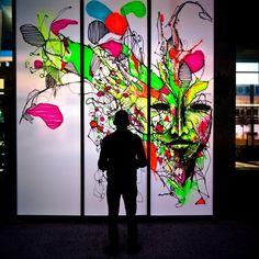 Абстрактная живопись на стенах - IEMZA - 085