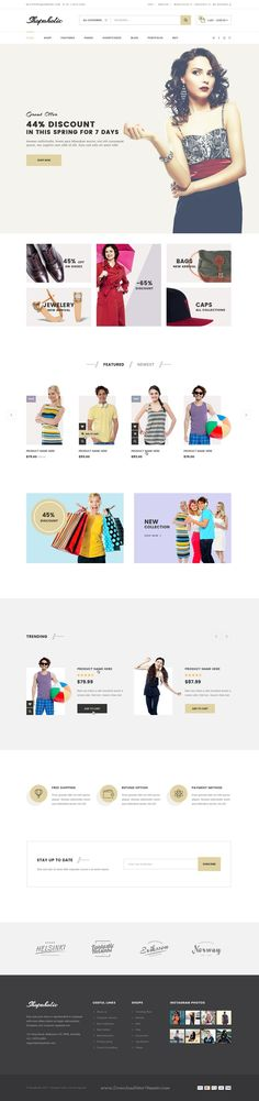 Shopaholic is a Professionally designed eCommerce PSD Template comes with 11 stunning homepage layouts. #fashionstore #psdtheme