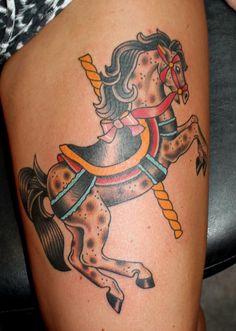 carousel horse tattoo myke chambers