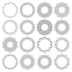 Sixteen decagon decorative elements with stripes braiding vector art illustration Free Vector Graphics, Free Vector Images, Vector Art, Stripes, Clip Art, Charmed, Illustration, Pattern, Animals