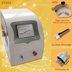 V1013 is with three handles :  1. HIFU 2. Suction Message 3. Multipolar RF