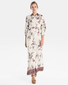 cfd1ee523 Vestido camisero de mujer Fórmula Joven de flores