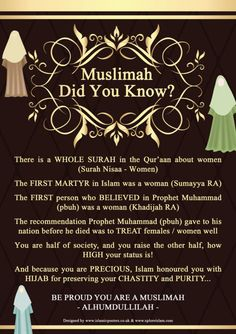 This is the real islam ... not what u hear in the media about oppressing women  I am proud to be a muslima and wear my hijab ...
