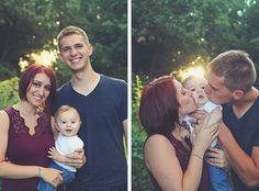 Family portraits with 7-month-old baby boy in natural light outside