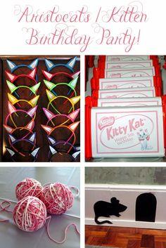 Cute Aristocats / Kitten / Kitty / Cat Birthday Party Ideas!