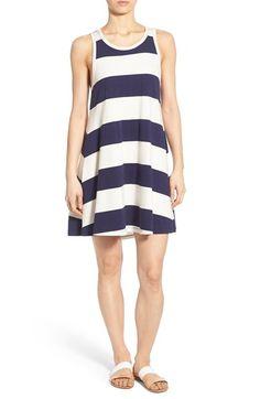 Sol Angeles Rugby Stripe Knit A-Line Dress