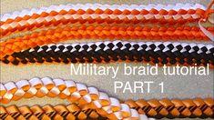 how to make a military braid - Homecoming Mums Senior, Homecoming Garter, Homecoming Spirit Week, Military Homecoming, Homecoming Ideas, Homecoming Dresses, Custom Ribbon, Diy Ribbon, Ribbon Work