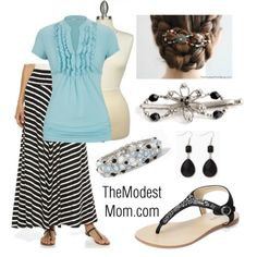 A Pop of Blue - The Modest Mom