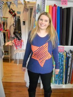 Katja hat sich ein super cooles Shirt aus einem *Bettlaken* genäht ... einfach genial und dabei so günstig!