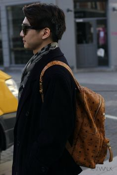 Streetstyle, men's fashion, MCM backpack