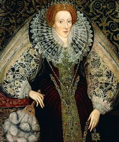 1585 Queen Elizabeth I 1533-1603 with feather fan by John Bettes the Younger.