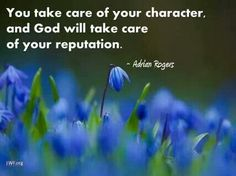 Take care of your character