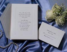 Initialed White Panel Wedding Invitation
