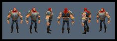 More character inspiration.  I like the proportions.  Our main character won't be nearly as jacked, however.