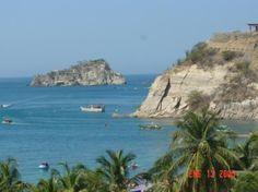 Beautiful coastline of Santa Marta, Colombia.